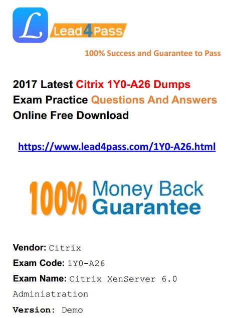 1Y0-A26 dumps